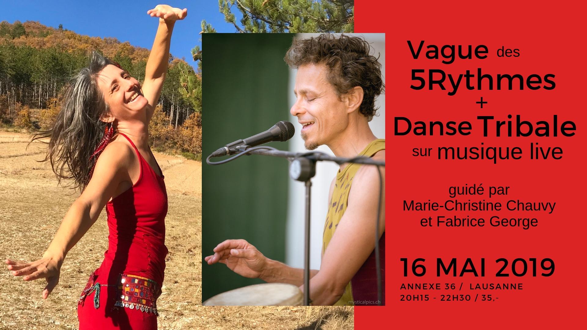 Vague 5Rythmes + Danse Tribale I Lausanne