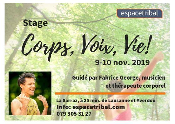 """Annulé: Stage """"Corps, Voix, Vie"""""""