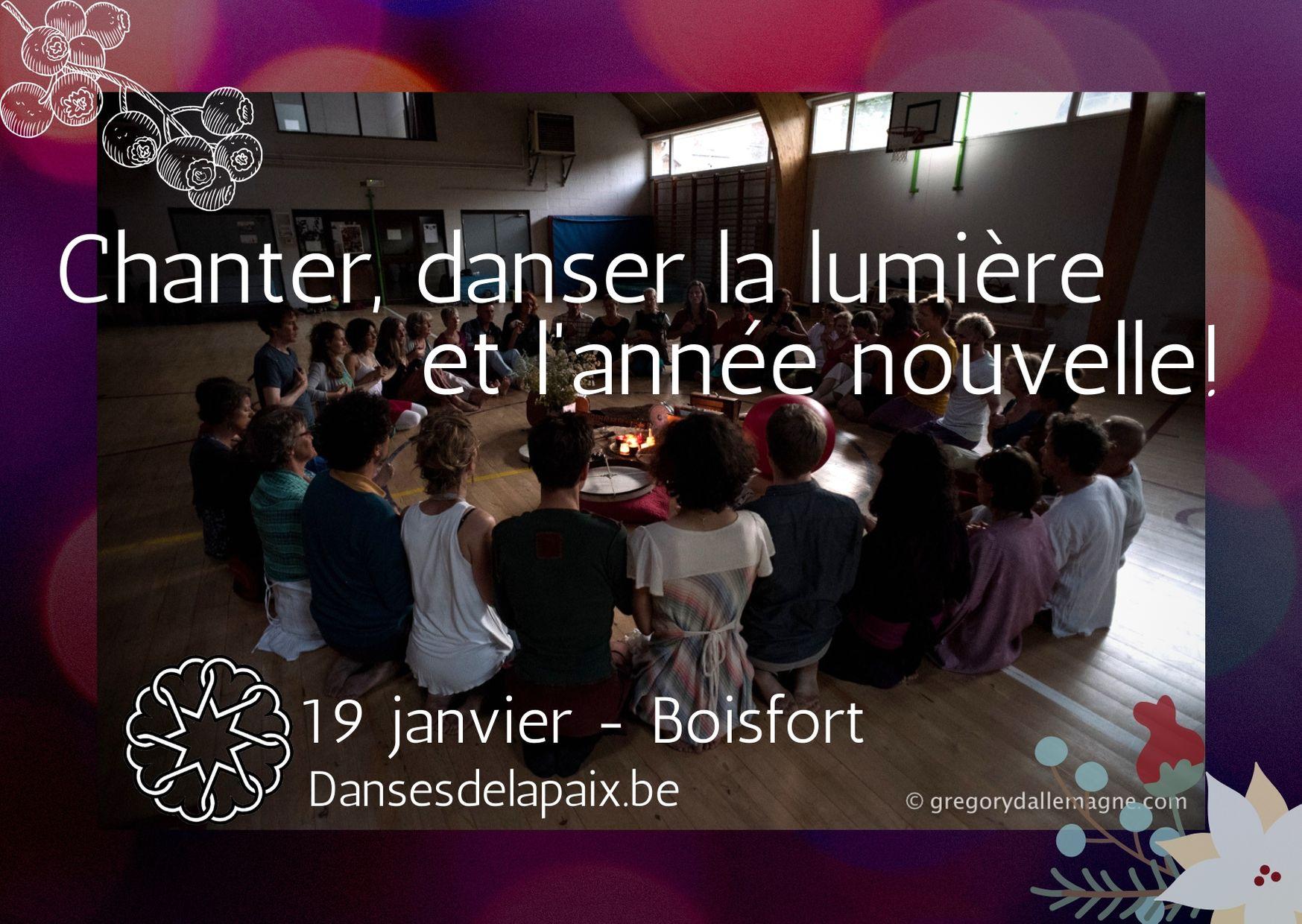 Chanter, Danser la lumière et l'année nouvelle I Bxl